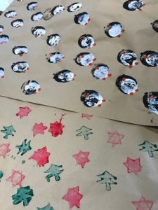 Potato Print Wrapping Paper Kirsty Allsopp